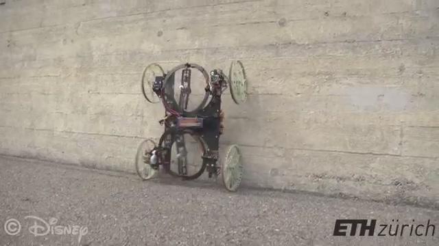 jiqirentv: robot car can drive up walls