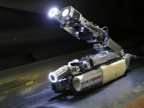 robot with leds